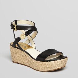 Michael Kors Black Wedge Sandals